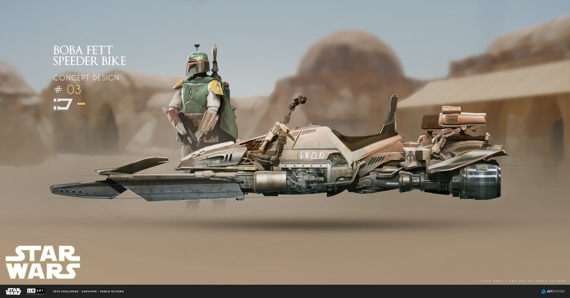 2016 ILM Art Department Challenge Entry by Pablo Olivera