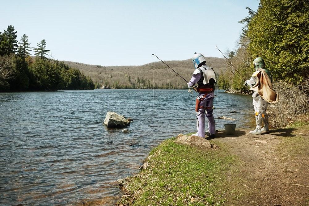 Jango Fett and Boba Fett Go Fishing by Dan Picard