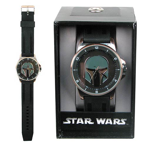 Accutime Boba Fett Bronze Case Strap Watch (2014)