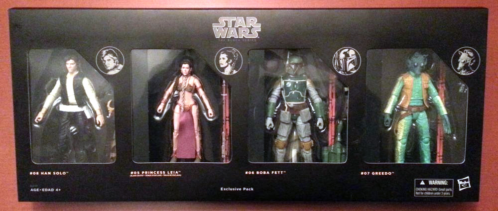 Han Solo, Slave Leia, Boba Fett, and Greedo 4-Pack (Walmart and Mexico Exclusive)