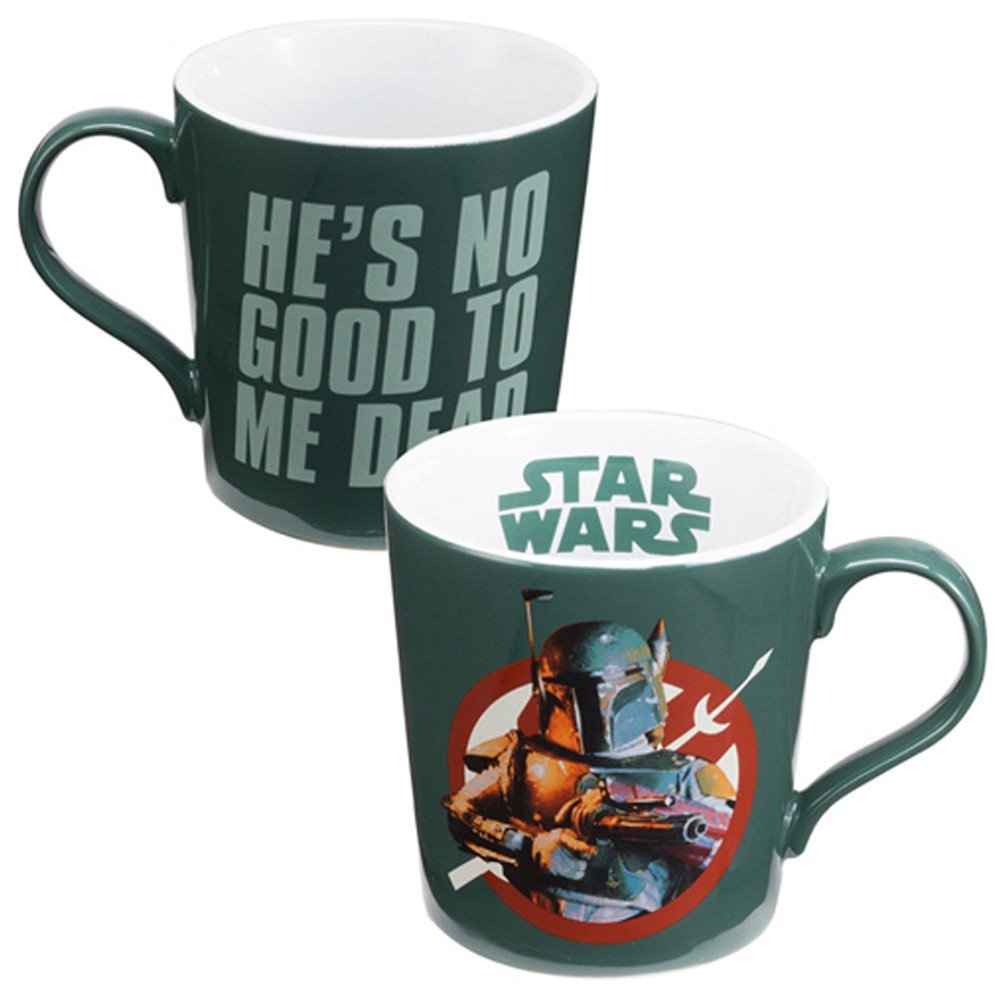 "Boba Fett ""He's No Good To Me Dead"" Ceramic Mug"