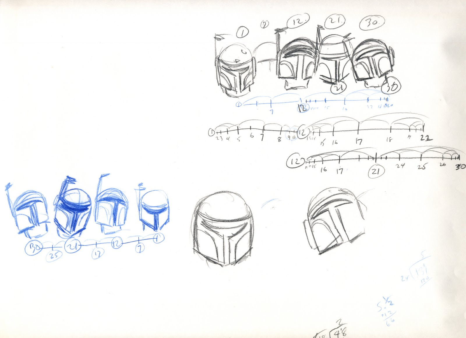 """Holiday Special"" Thumbnail Sketches for Boba Fett by John Celestri"