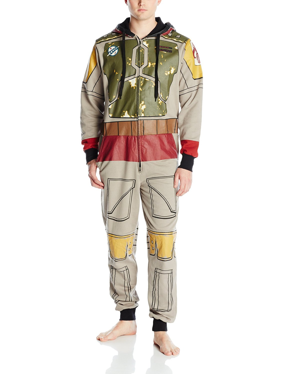"""Boba Fett """"Lounger"""" Jumpsuit with Hoodie, Front (2015)"""