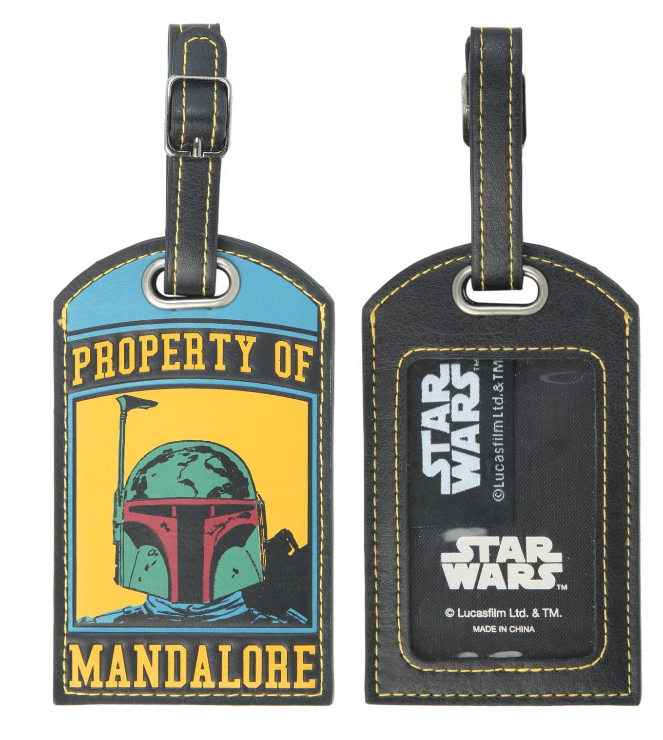 """""""Property of Mandalore"""" Boba Fett Luggage Tag (2014)"""