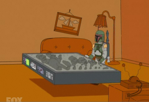 The Simpsons Boba Fett Couch Intro