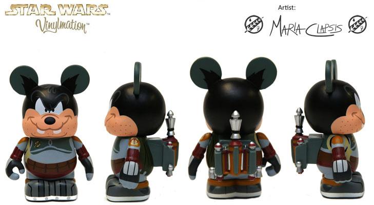"Disney Vinylmation Star Wars Bad Pete Boba Fett 3"" (2012)"