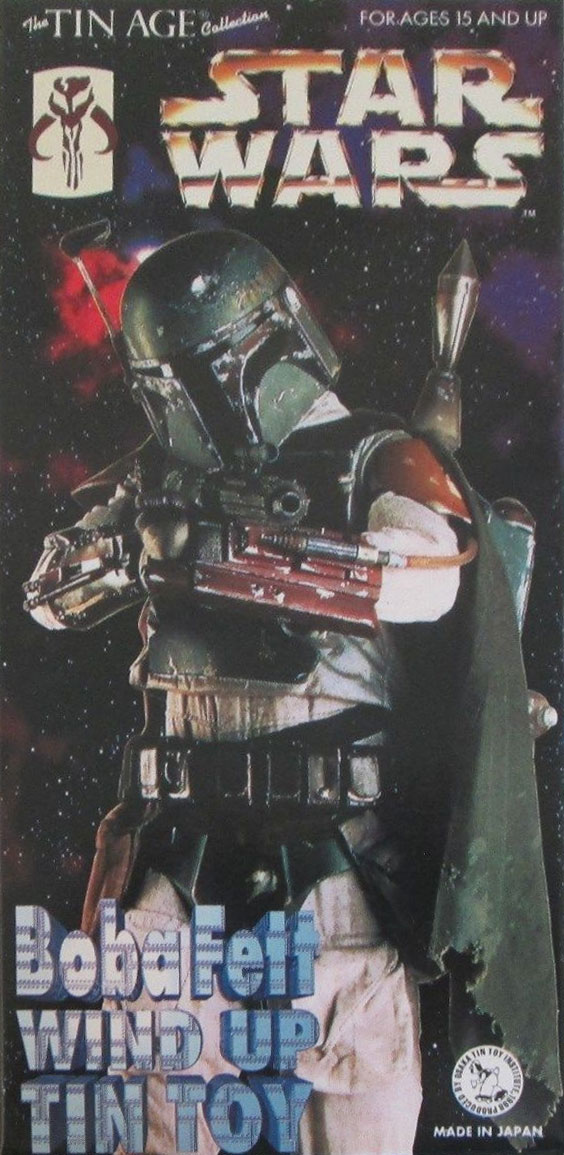 Boba Fett Wind Up Tin Toy (1997)