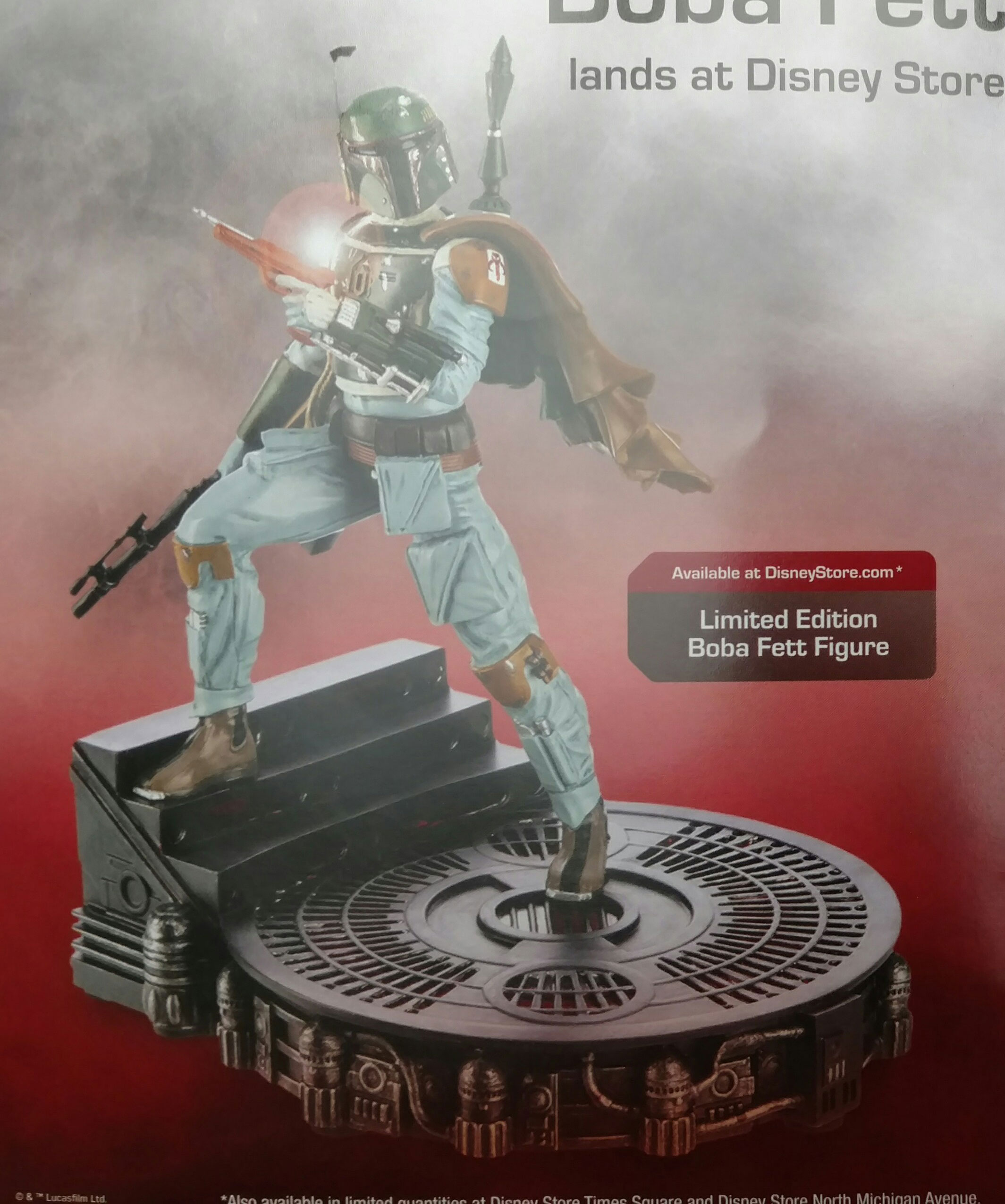 "Disney Store ""Boba Fett Collection,"" Limited Edition Figure (May 2016)"