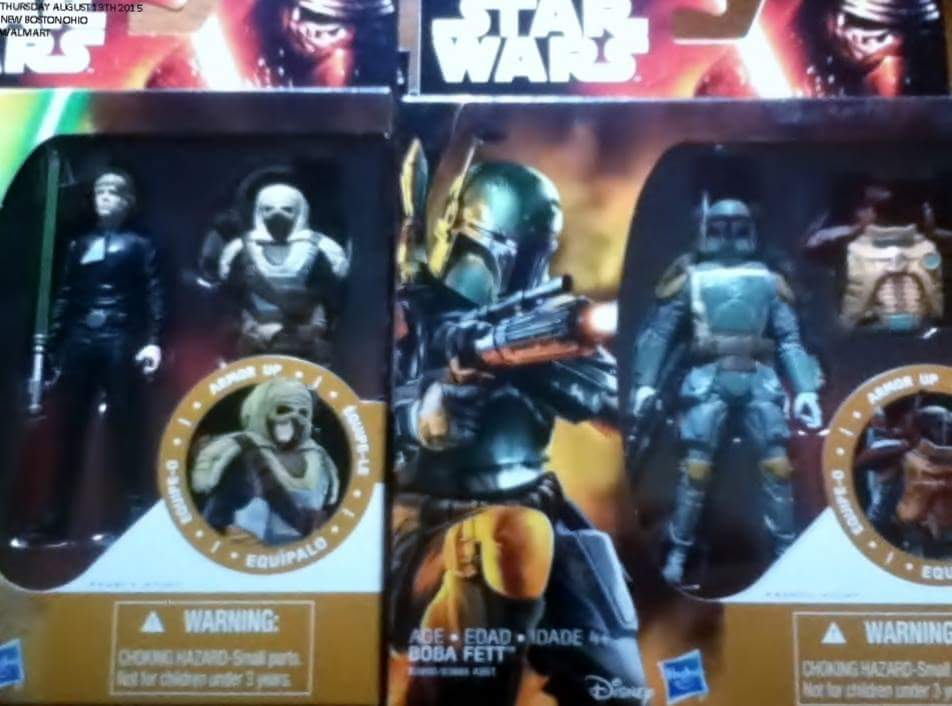 "Hasbro ""The Force Awakens"" Packaging, Boba Fett with ""Removable"" Jakku Armor (2015)"