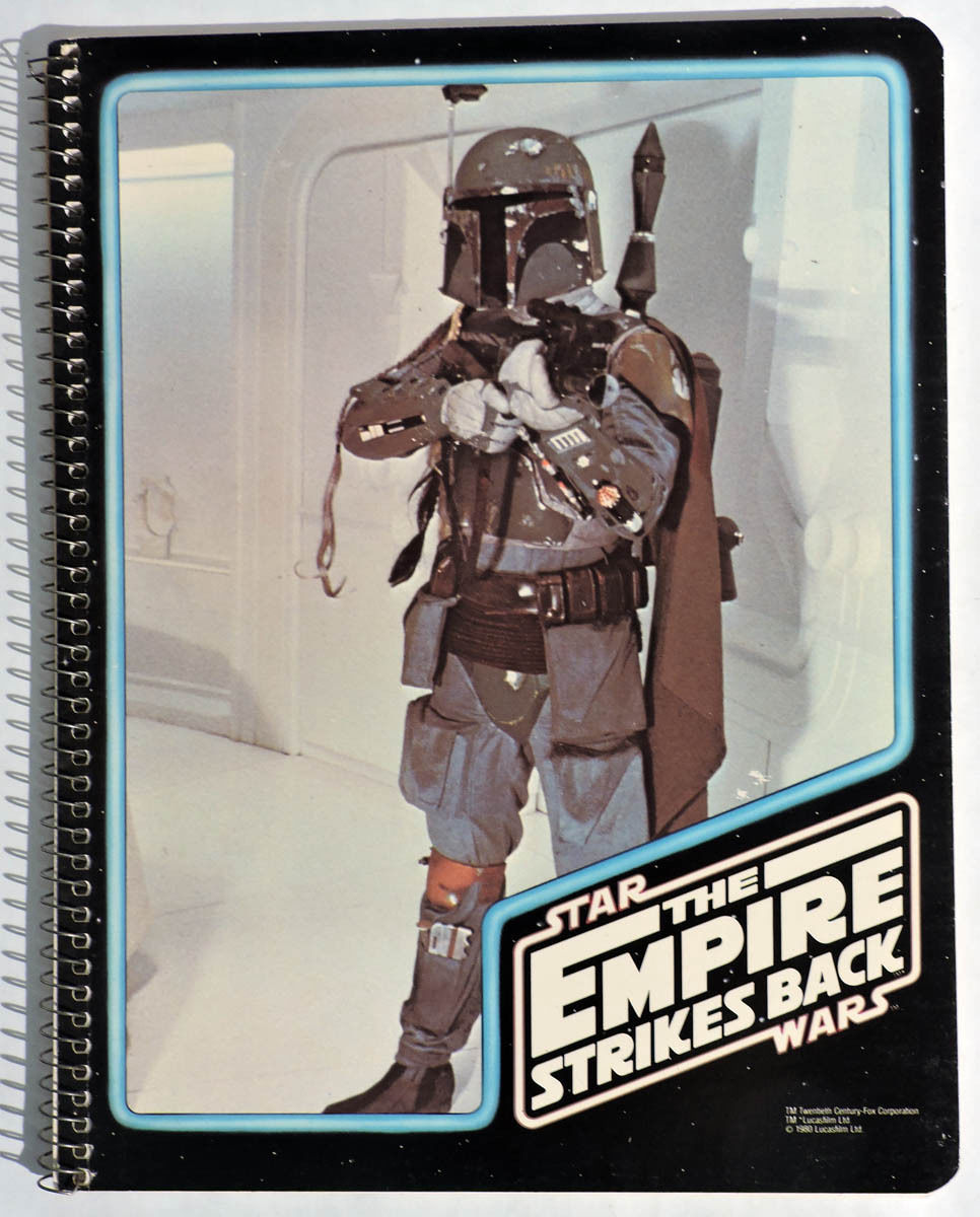 """Empire"" Boba Fett Spiral-Bound Notebook (1980)"