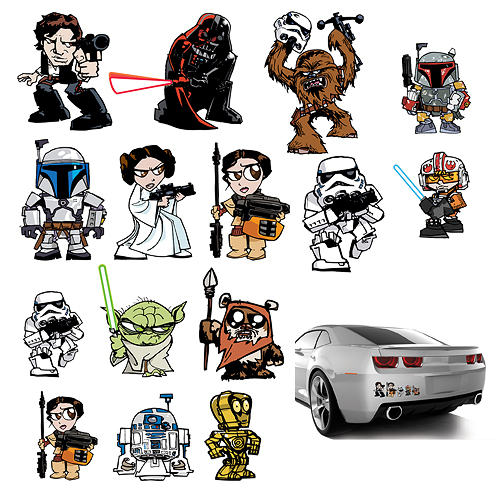 FanWraps Heroes and Villains Family Graphics Series (2015)