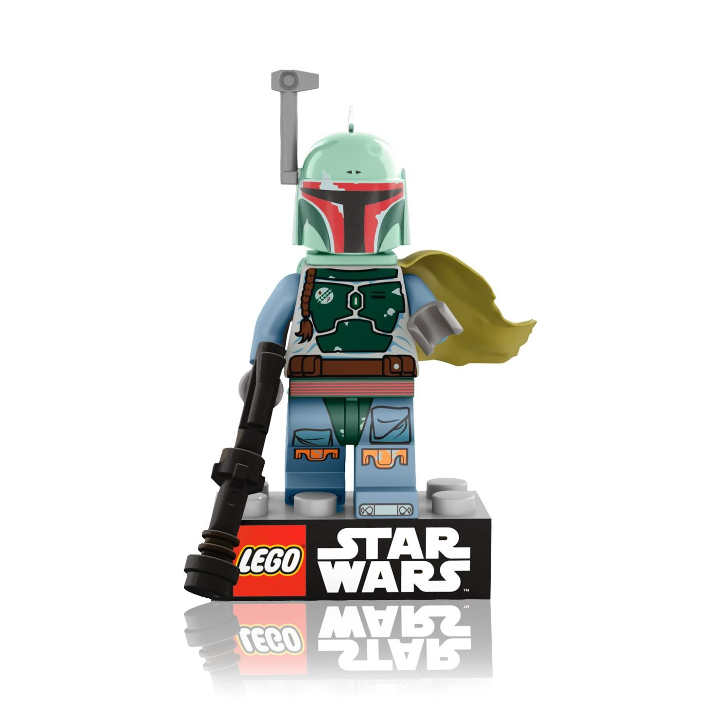 Hallmark LEGO Boba Fett Ornament, Front (2014)