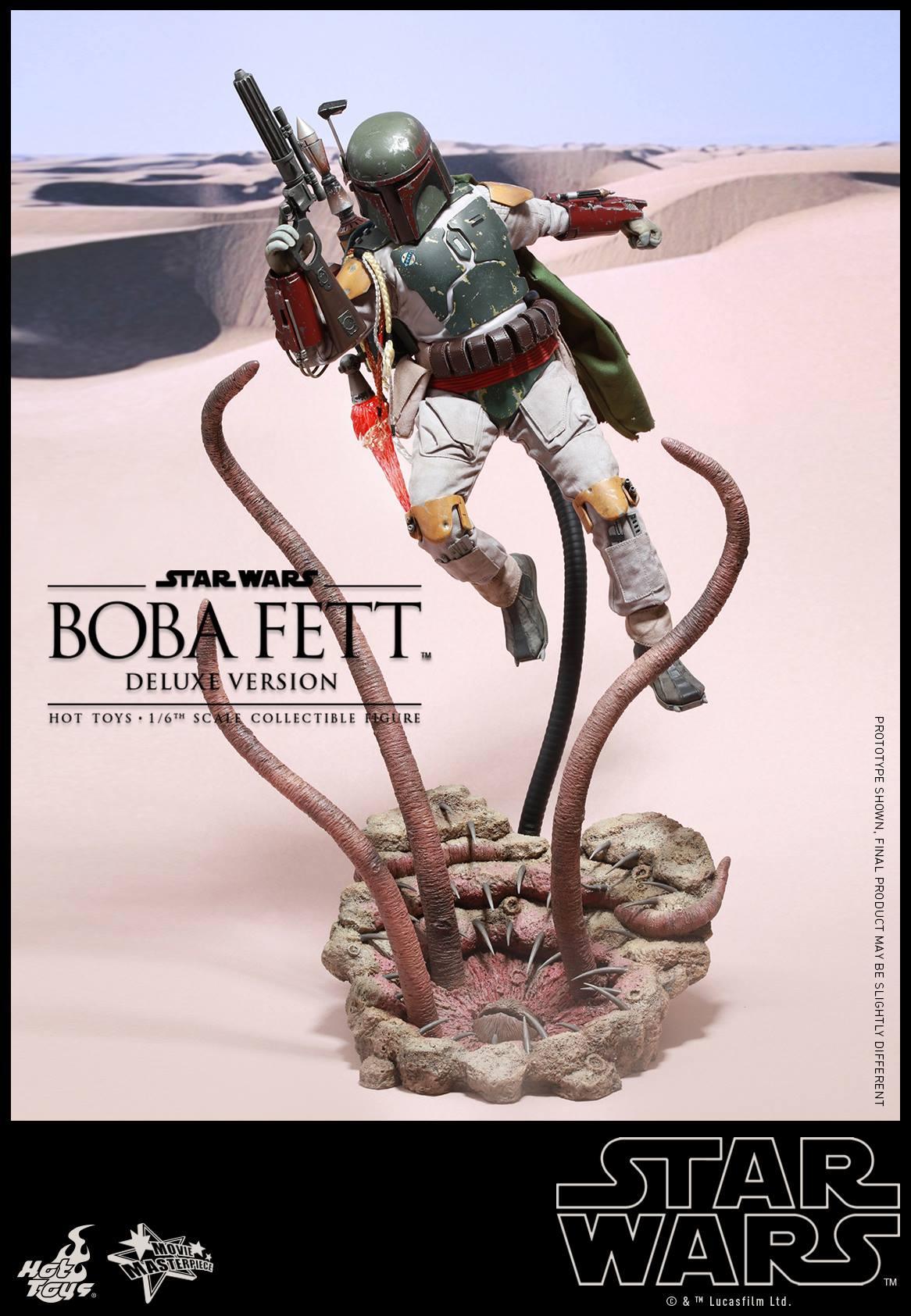 """Hot Toys 1/6 Scale Boba Fett (""""Jedi""""), Deluxe (2015)"""