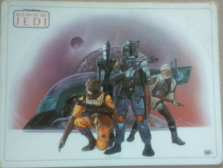 """Icarus """"Return of the Jedi"""" Bounty Hunter Placemat (1982)"""