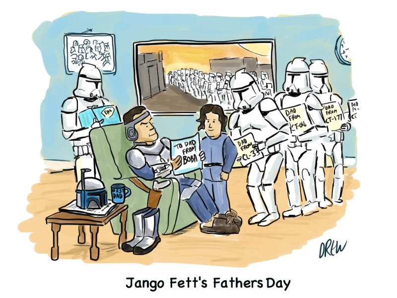 """Jango Fett's Fathers Day"" by Andrew Fraser (2013)"