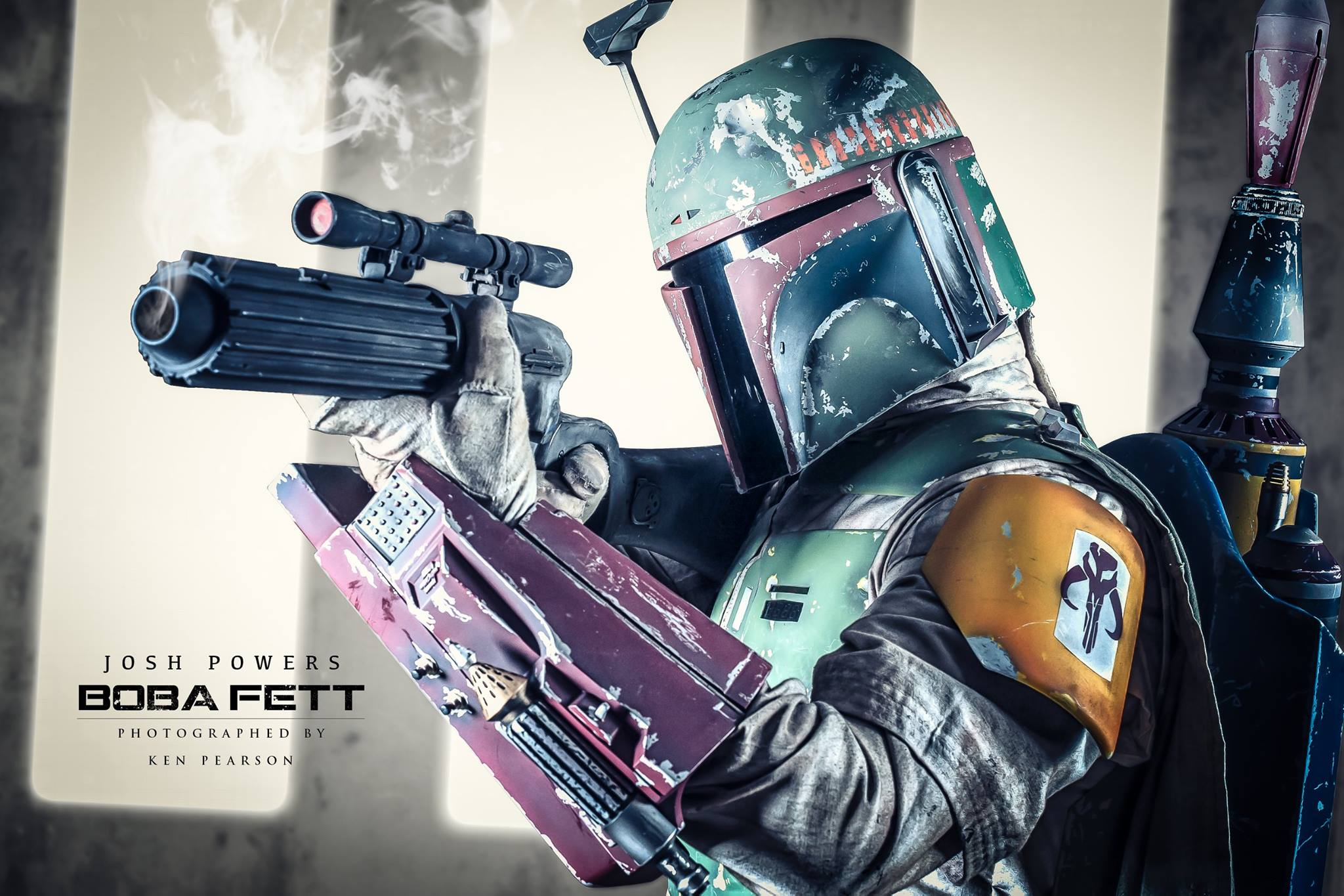 "Josh Powers as ""Pre-Sarlacc"" ROTJ Boba Fett (Fan Spotlight 12/15/2014)"