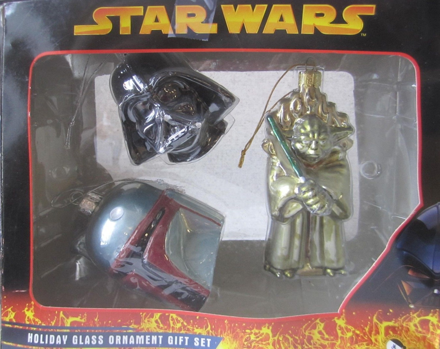 Star Wars Holiday Glass Ornament Gift Set (2005)