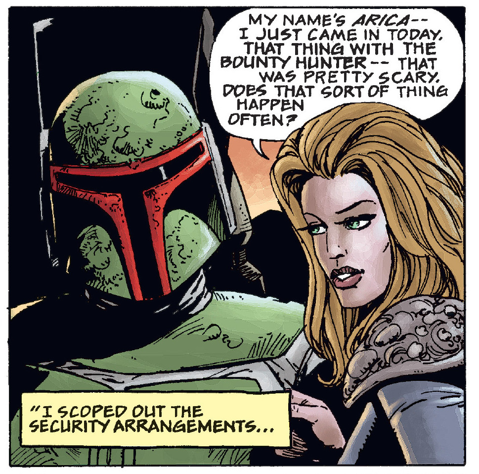 Mara Jade as Arica with Boba Fett