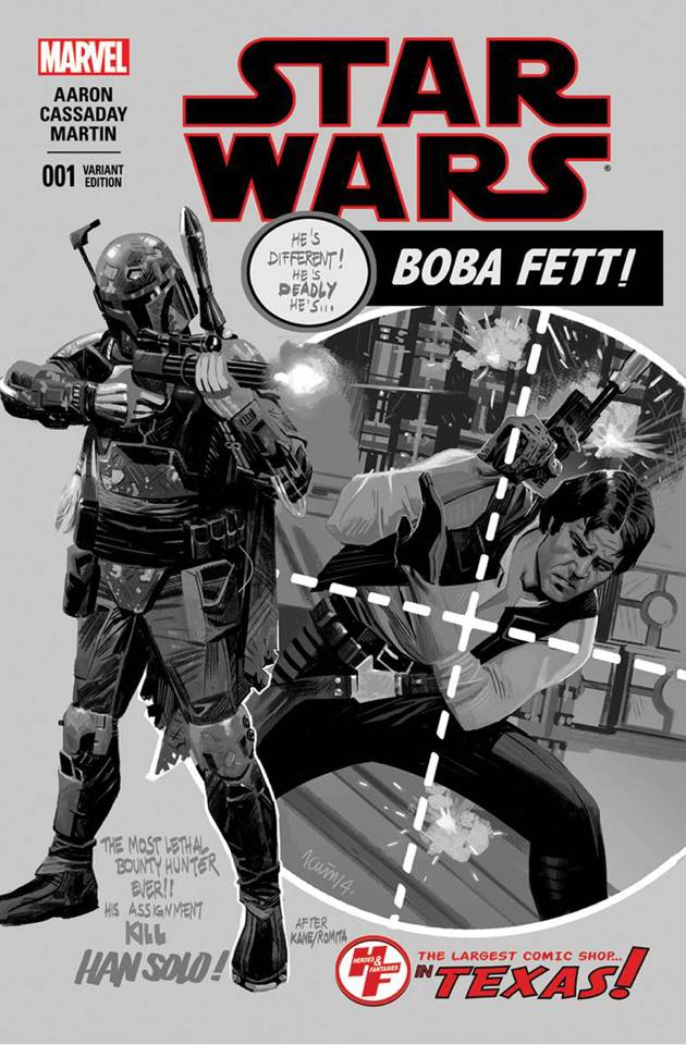 Star Wars #1 (Heroes and Fantasies Exclusive, B&W Variant) (2015)