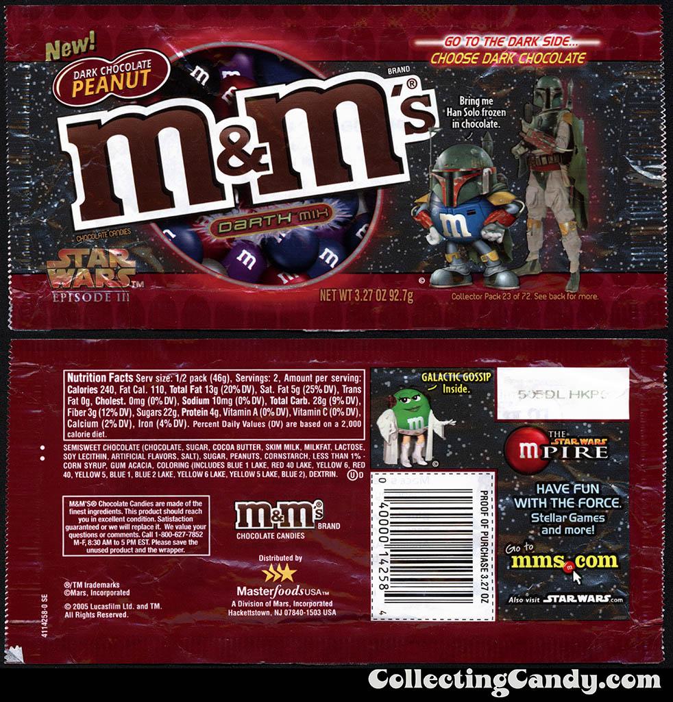 M&M's Darth Mix Dark Chocolate Peanut