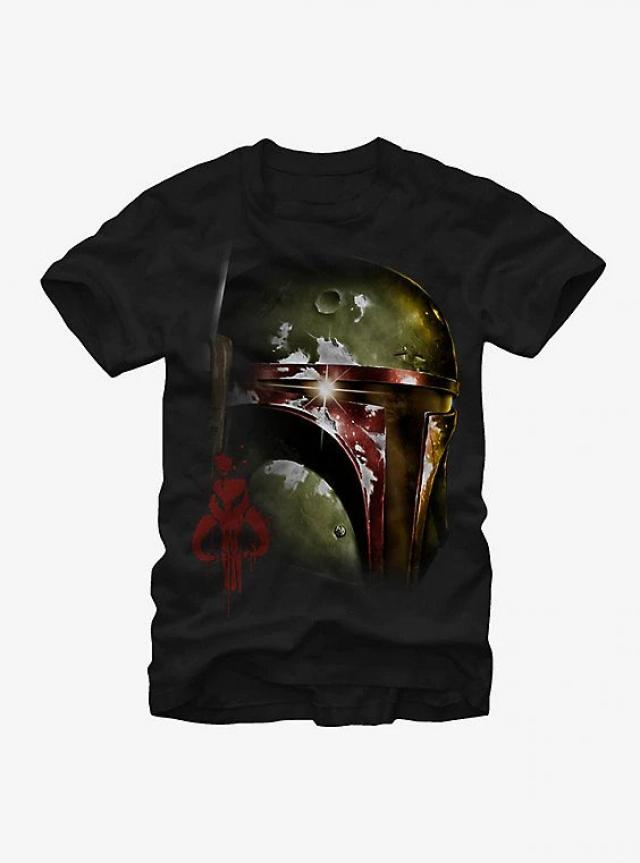 aeaa90e256768 A Boba Fett shirt with a helmet so shiny you can see the reflection of Han  Solo in carbonite  Yes