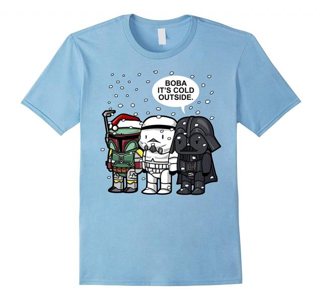 """""""Boba It's Cold Outside"""" Star Wars Christmas T-Shirt ..."""