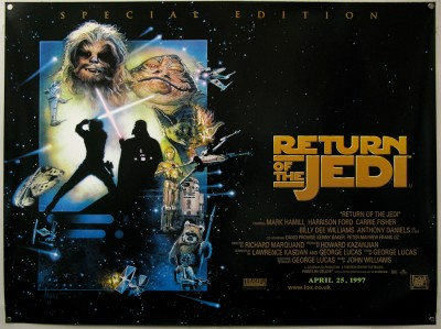 Return of the jedi movie poster fridge poster