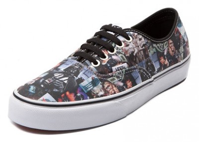 8dfbc69fd0 Vans Authentic Star Wars Film Collage Skate Shoes - Boba Fett Fan Club