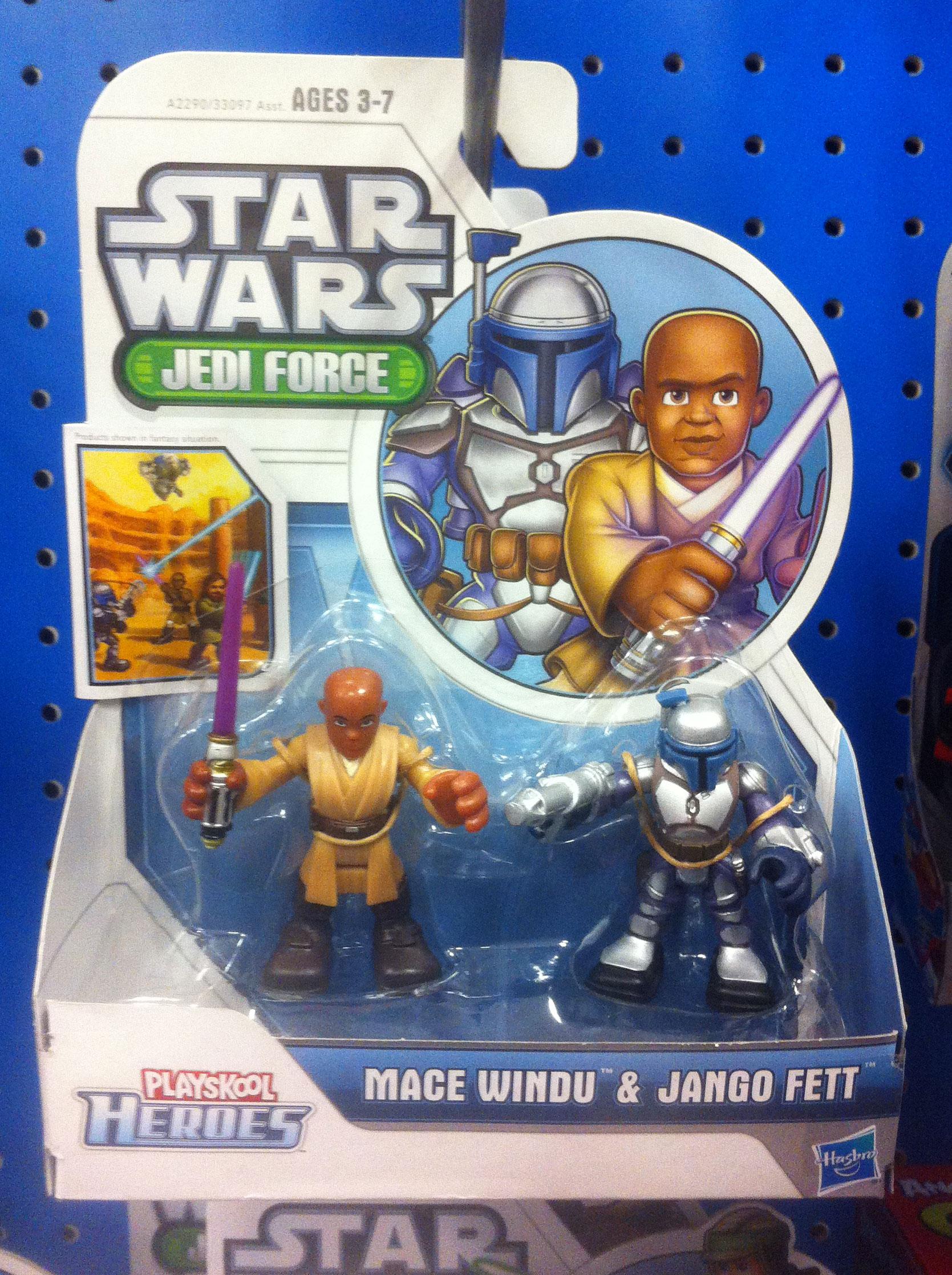 Playskool Heroes Jedi Force Mace Windu and Jango Fett (2014)