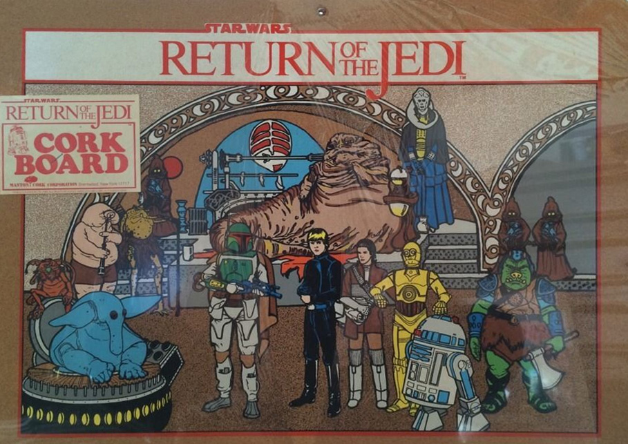 """Return of the Jedi"" Cork Board (1983)"