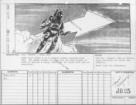 """Return of the Jedi"" Storyboard ""JB25"""