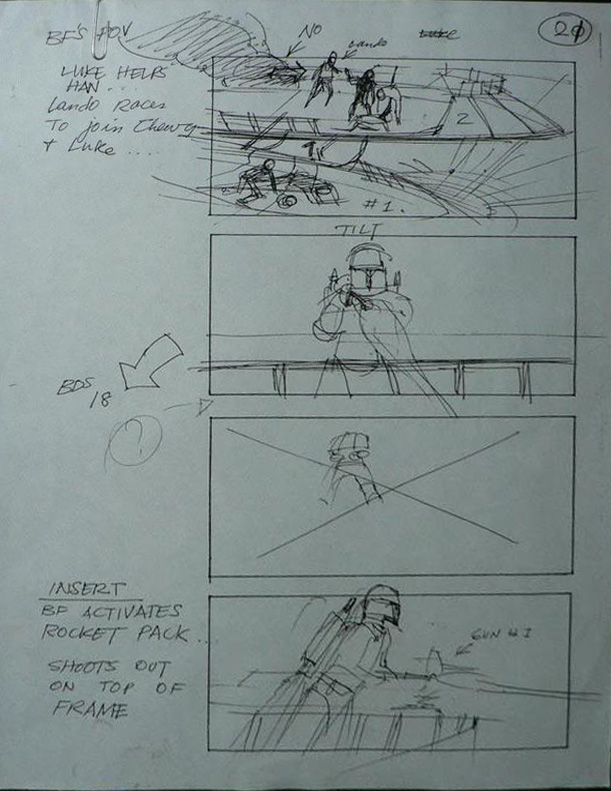 """Return of the Jedi"" Storyboard Draft, Page 21 (Unverified)"
