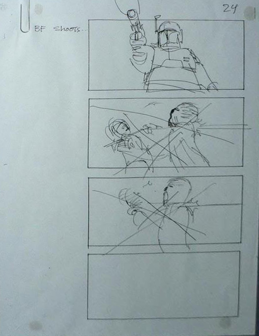 """Return of the Jedi"" Storyboard Draft, Page 24 (Unverified)"