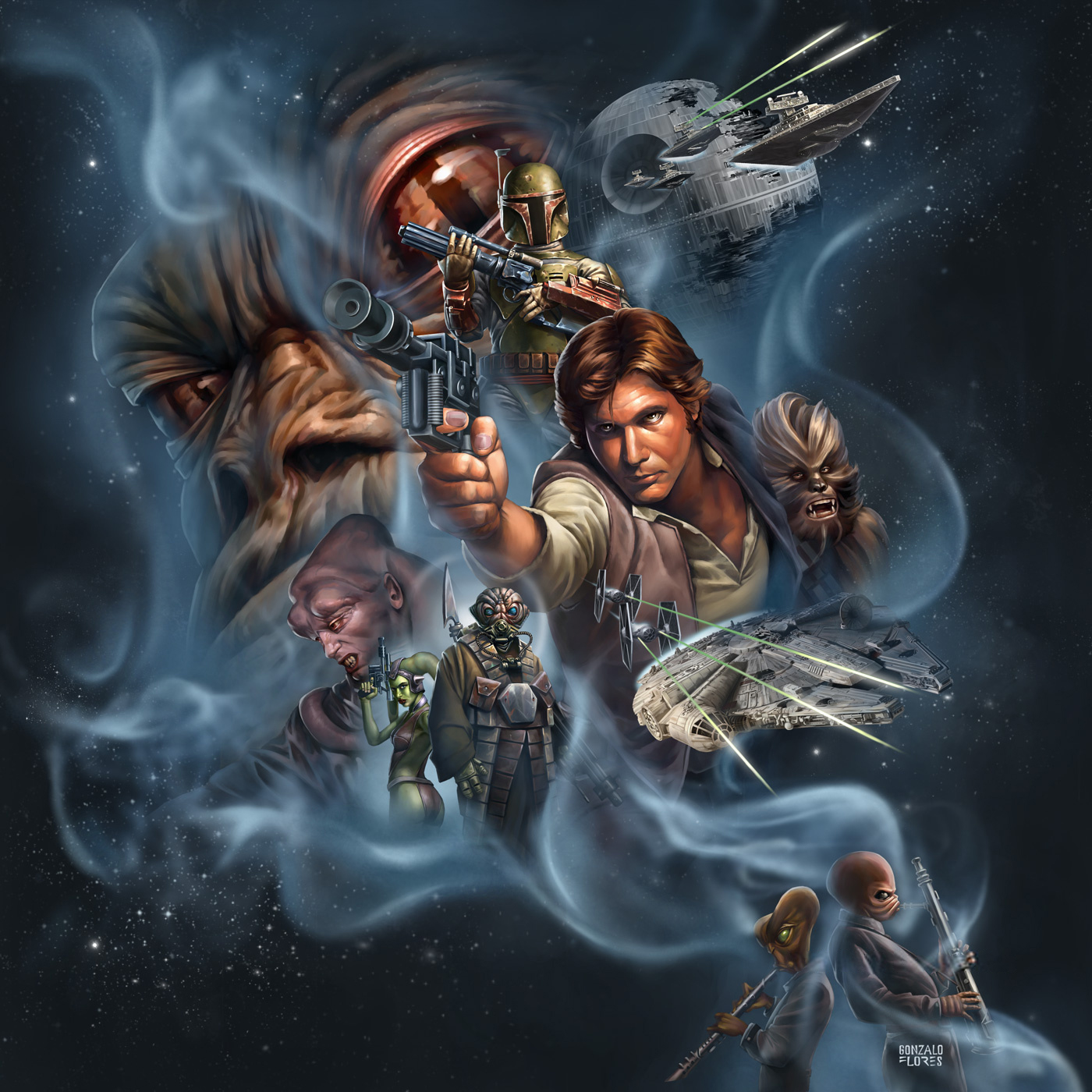 Scum and Villainy (Star Wars Roleplaying Game), Cover Artwork (2008)