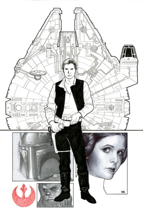 Star Wars #1 (Cards, Comics & Collectibles Exclusive, B&W Variant) (2015)