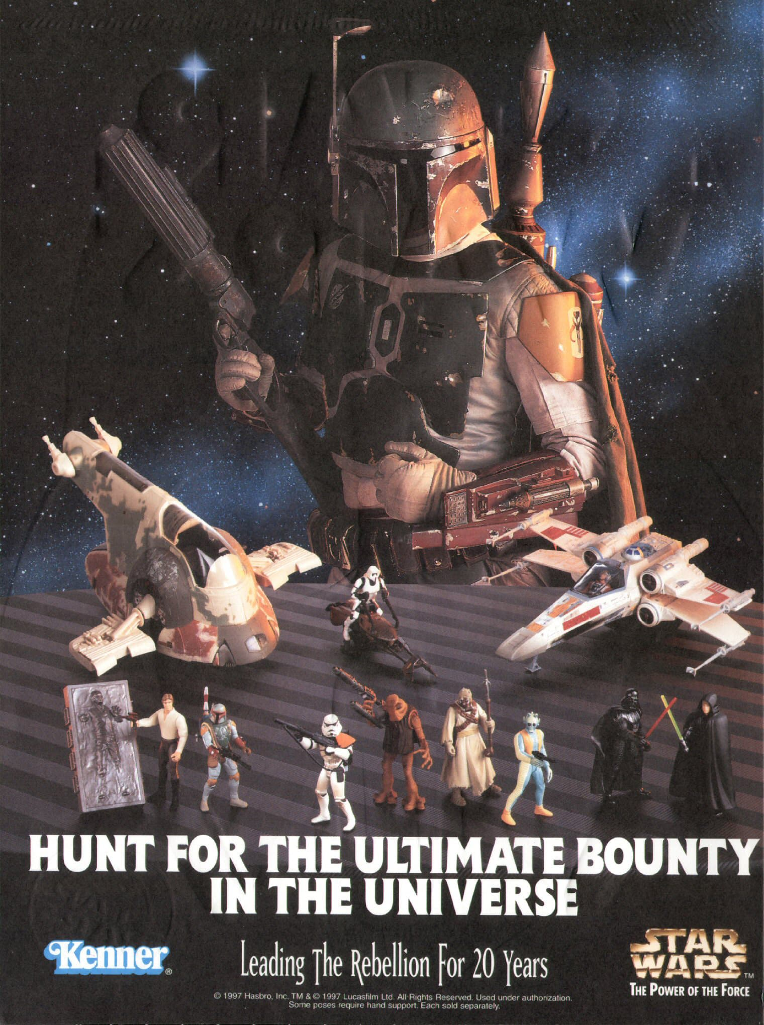 """Power of the Force"" Ad with ""Special Edition"" Boba Fett (1997)"