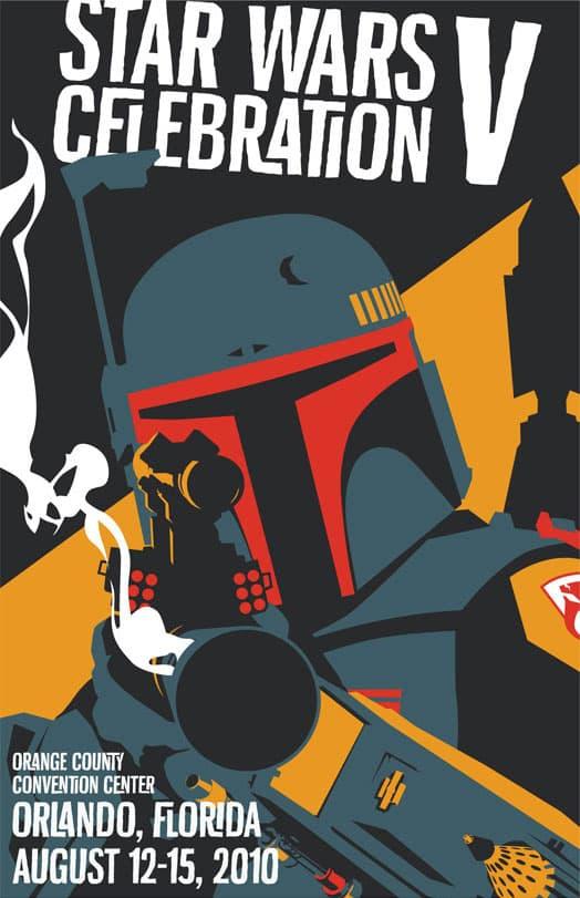 Star Wars Celebration V Poster by Russell Walks (2010)