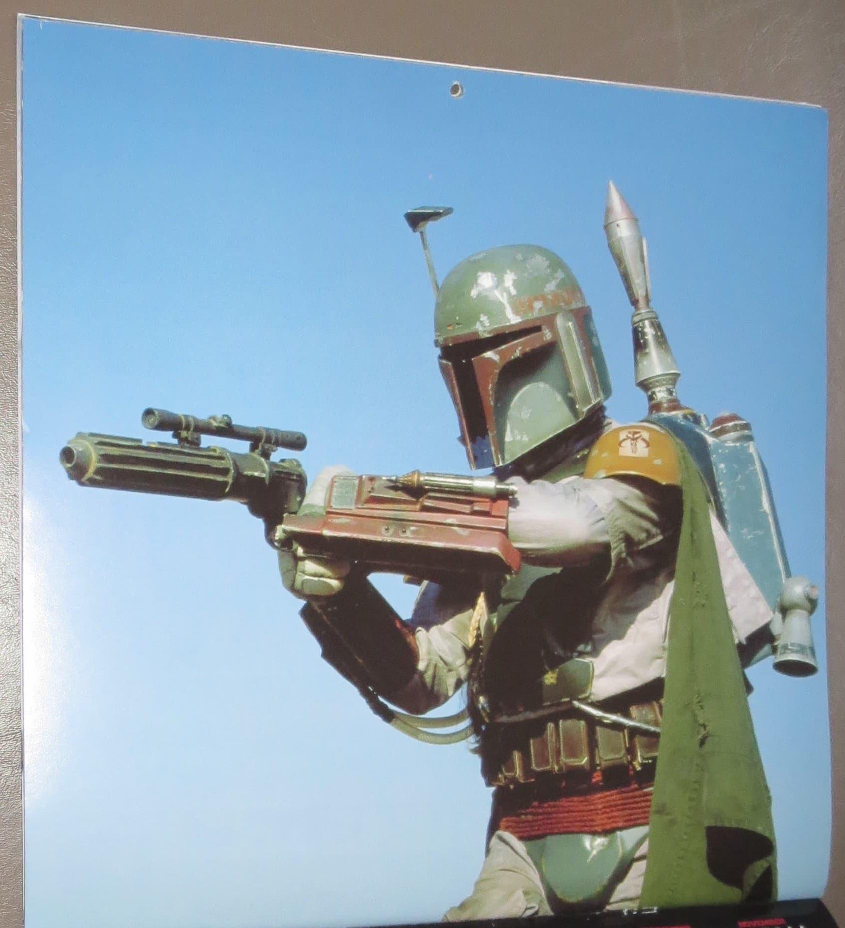 star wars saga 2014 16month calendar  boba fett fan club