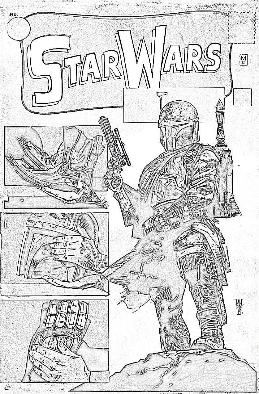Star Wars #1 (Warp 9 Exclusive, B&W Variant) (2015)