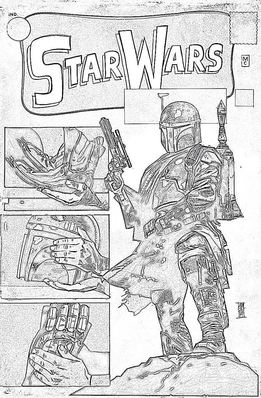 Star Wars #1 (Warp 9 Exclusive, B&W Variant) (2015)