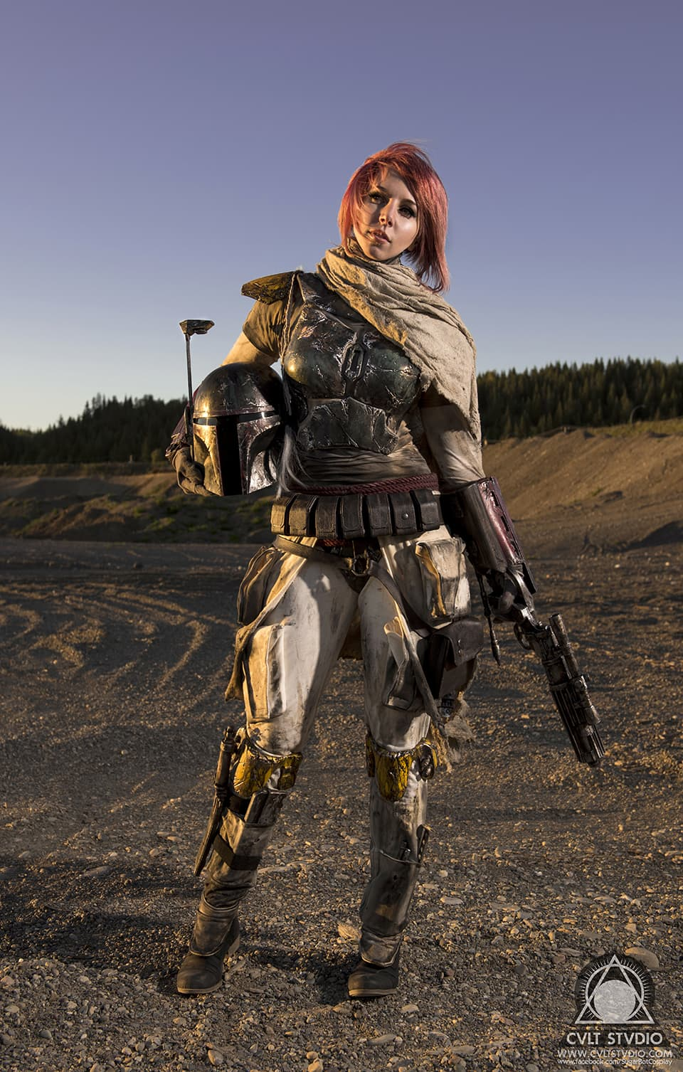 SugarBot Cosplay as Mythos Boba Fett