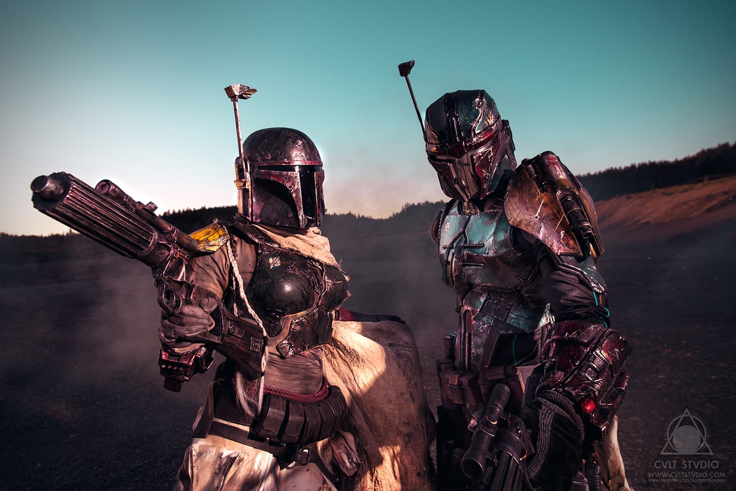 SugarBot Cosplay as Mythos Boba Fett with Play Arts Kai Boba Fett