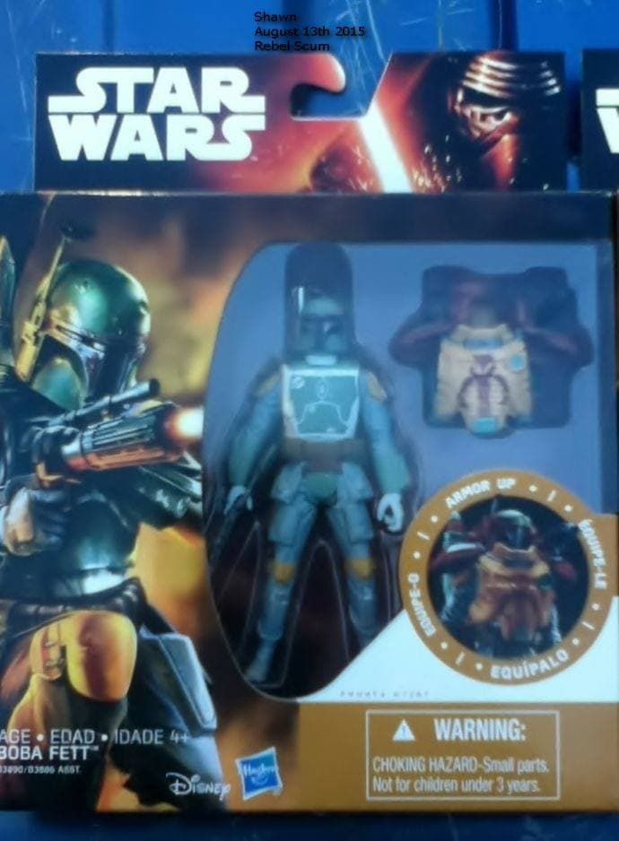 "Hasbro ""The Force Awakens"" Packaging Boba Fett, Front (2015)"
