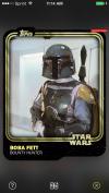 Star Wars: Card Trader, Boba Fett (Gold) (Front) (2015)