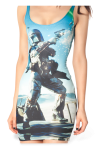 """Boba Fett's Last Stand"" Dress by Black Milk, Detail"
