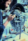 Slave I being built by Lorne Peterson