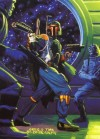 Topps Shadows Of The Empire #90 Fett Fends Off Fellow Bounty Hunters (1996)