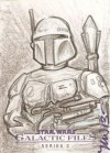 Star Wars Galactic Files 2 Sketch Card Niall Westerfield (2013)