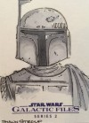 Star Wars Galactic Files 2 Sketch Card Shaun Stroup (2013)