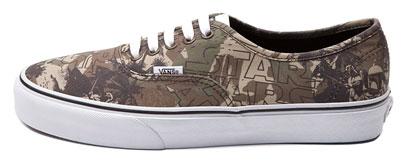 Vans Authentic Boba Fett Camo Skate Shoe (2014)